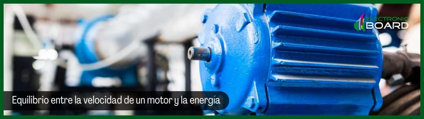 Equilibrio entre la velocidad de un motor y la energía