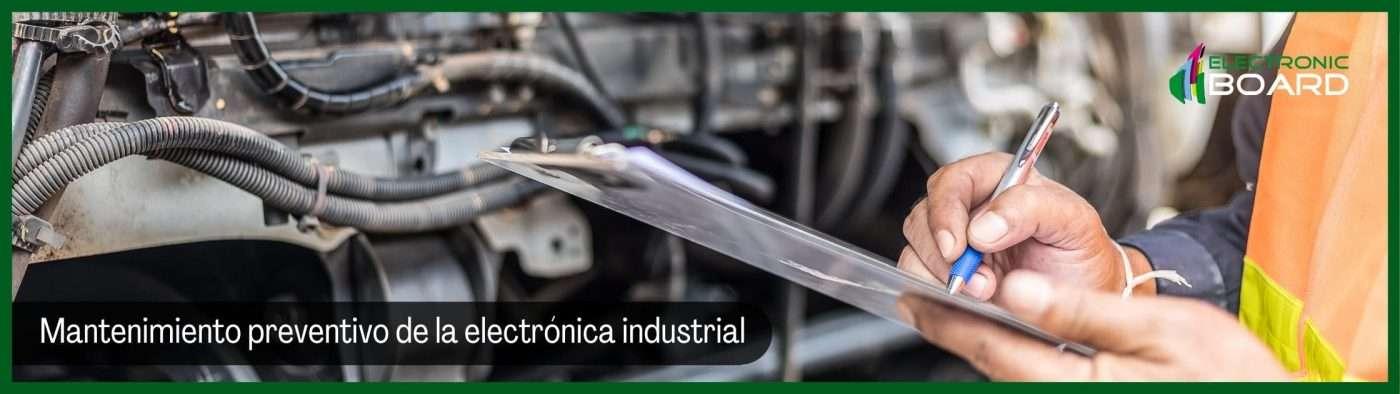 Mantenimiento preventivo de la electrónica industrial
