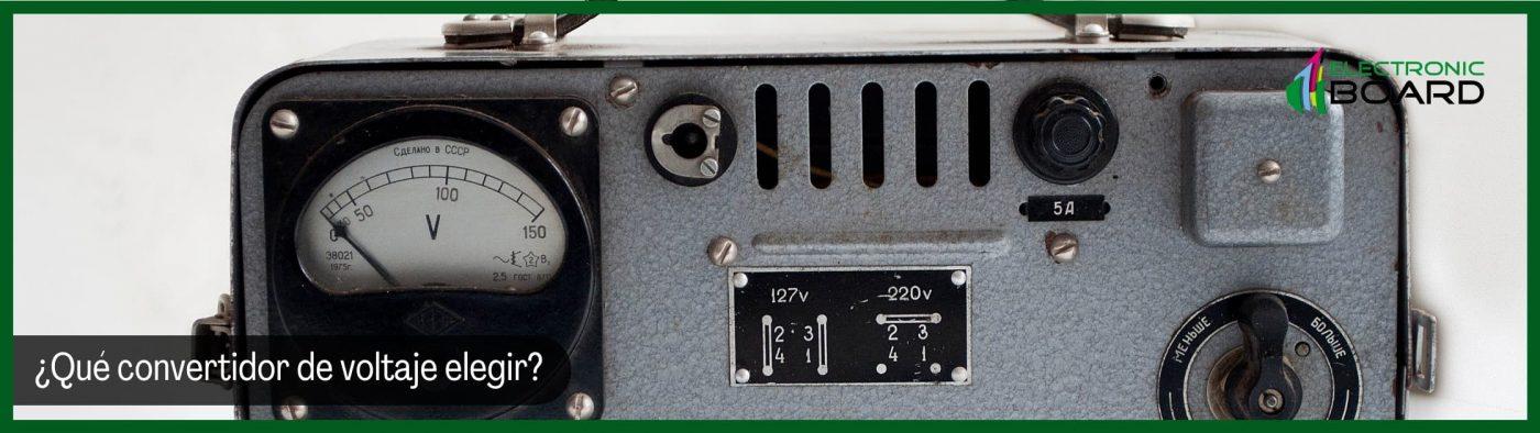 ¿Qué convertidor de voltaje CC elegir